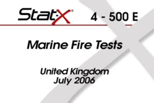 Video av MCA Marine test